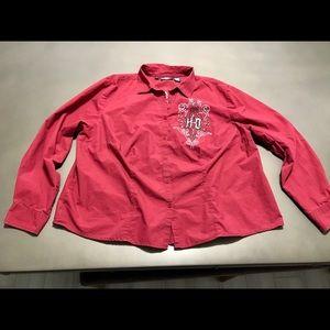 Women's Harley-Davidson Deep Red Shirt Size 3W